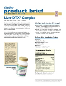 Liver DTX - Product Brief Page 1